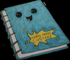 Mardy Mardy Custard Notebook Sketch